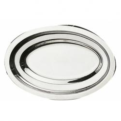 Plat ovale uni 40x27 cm INOX