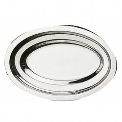 Plat ovale uni 60x24 cm INOX
