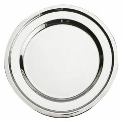 Plat ovale uni 30 cm INOX