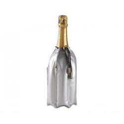 Rafraîchisseur vin 21 cm argenté pourpre