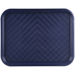 Plateau rectangle bleu 34,5 X 26,5 cm