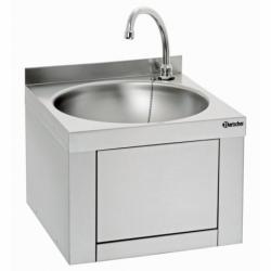 Lave-mains, commande genou