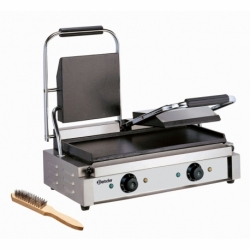 Grill contact, double, lisse