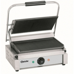 Grill contact Panini, plaque rainuree