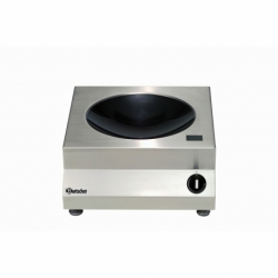 Wok a, induction avec 3kW /230 V 50/60 Hz