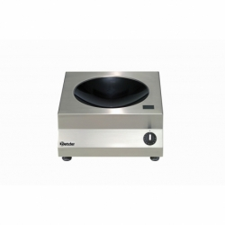 Wok a, induction avec 5kW /230 V 50/60 Hz