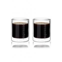 "Set de 2 tasses ""espresso"" double paroi"