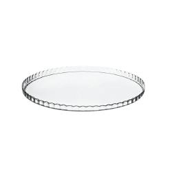 Plat et cloche à tarte en verre 32 cm