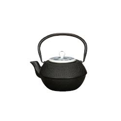 Théière en fonte noire avec couvercle en porcelaine 120 cl
