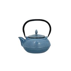 Théière en fonte bleue 90 cl