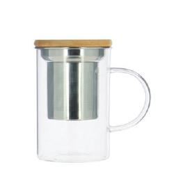 Mug 50 cl en verre et simple paroi