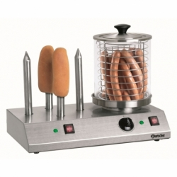 Appareil hot-dogs, 4 toasts avec 4 plots chauffes