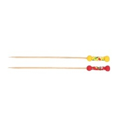 Set 24 piques bambou 12cm