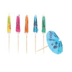 Set 24 parasols papier 10 cm