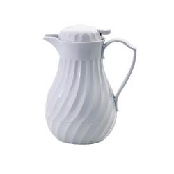 Carafe torsade en plastique blanc 60 cl
