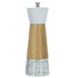 Moulin à sel : bois de hêtre et marbre