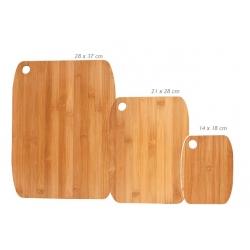 Set de 3 planches en bambou