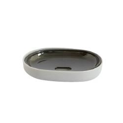 Porte savon plastique gris mat