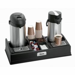 Presentoir a cafe 1190 pour 2 cafetieres thermos