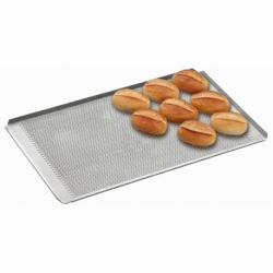Plaque perforee avec revetement silicone GN 1/1 perforation 3 mm 4 bords  a plis inclines , epaisseur 1,5 mm