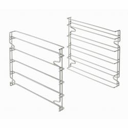 Set de deux supports glissieres aux normes patissieres pour utilisation des 5 plaques 600x400