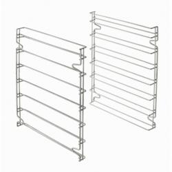 Set de deux supports glissieres aux normes patissieres pour utilisation des 7 plaques 600x400