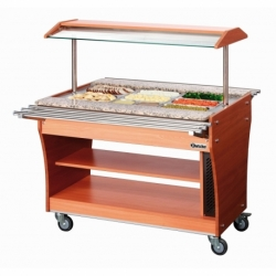 Chariot buffet chaud, 3x1/1GN, 150