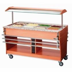 Chariot buffet chaud, 4x1/1GN, P150