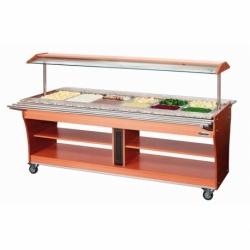 Chariot buffet chaud 6x GN 1/1 180