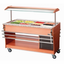Chariot buffet froid, 4x1/1GN, P150