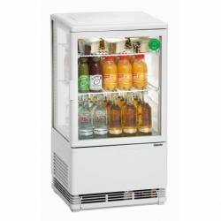 Mini vitrine refrigeree 58L, blanche