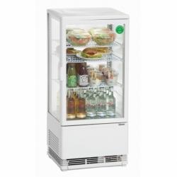 Mini vitrine refrigeree 78 L, blanche