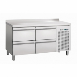 Table refrigeree, froid ventile, 4SL, avec releve