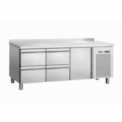Table refrigeree, froid ventile, 1T, 4SL, releve