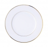 Assiette plate blanche 27 cm CLASSIC Filet OR