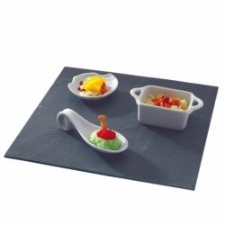 Assiette carrée 10x10 cm ARDOISE