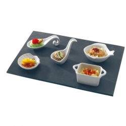 Assiette rectangle 30x12 cm ARDOISE
