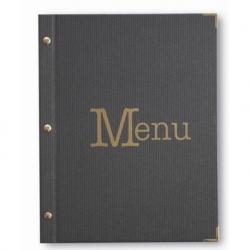 Protège menu LINEA gris foncé