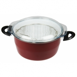 Friteuse 26 cm EMAIL ROUGE
