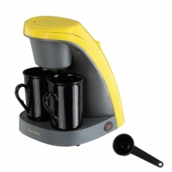 Machine à café jaune/gris