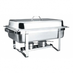 Chafing dish avec couvercle 56x35 cm